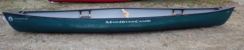 Used Mad River Journey 167 Green Canoe